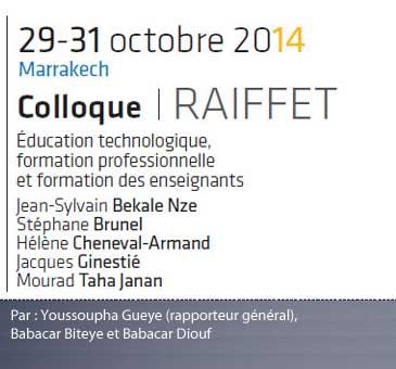 Synthèse du colloque 2014 de Marrakech au Maroc Formation professionnelle et formation des enseignants