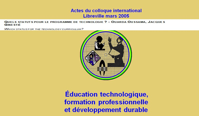 QUELS STATUTS POUR LE PROGRAMME DE TECHNOLOGIE ? - OUARDA OUSSAMA, JACQUES GINESTIÉ WHICH STATUS FOR THE TECHNOLOGY CURRICULUM?