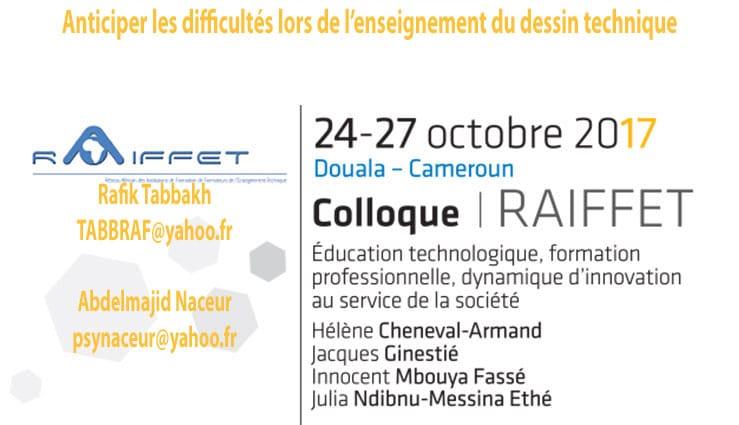 Anticiper les difficultés lors de l'enseignement du dessin technique Rafik Tabbakh TABBRAF@yahoo.fr  Abdelmajid Naceur psynaceur@yahoo.fr