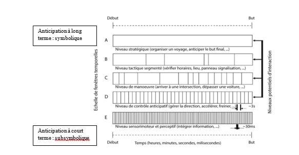 Figure 2 : Modèle hiérarchique des fenêtres temporelles d'anticipation