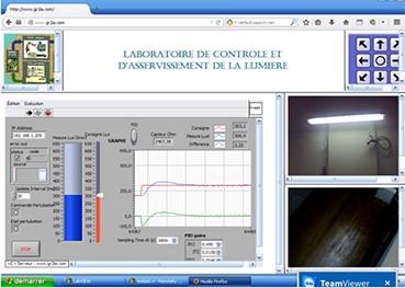 Figure 2 : Échantillon de résultats d'essais par un téléopérateur Internet localisé en France, du laboratoire réel d'automatique installé à l'ENSET de Douala.