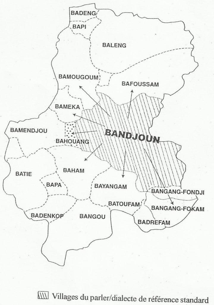 Carte : Aire ghomala' phone (Grand Mifi-Ouest Cameroun)